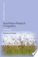 Quantitative Research in Linguistics