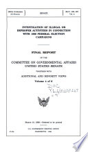 Investigation of Illegal Or Improper Activities in Connection with 1996 Federal Election Campaign