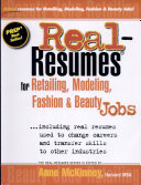 Real-resumes for Retailing, Modeling, Fashion and Beauty Jobs--