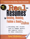 Real-resumes for Retailing, Modeling, Fashion and Beauty Jobs–