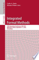 Integrated Formal Methods Book