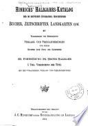 Hinrichs' Halbjahrs-katalog der im deutschen Buchhandel erschienenen Bücher, Zeitschriften, Landkarten usw