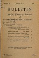 Bulletin   University of Oxford  Institute of Economics and Statistics