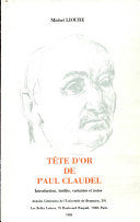 Tête d'or de Paul Claudel