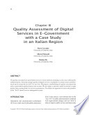Quality Assessment Of Digital Services In E Government With A Case Study In An Italian Region