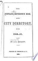 The Portland Reference Book and City Directory
