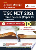 UGC NET Home Science (Paper II) 2021 | 10 Mock Test | Practice Kit