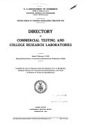Directory of commercial testing and college research laboratories