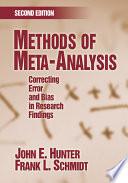 Methods Of Meta Analysis
