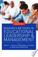 Research Methods in Educational Leadership and Management