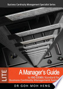 A Manager S Guide To Iso 22301 Standard For Business Continuity Management System Lite  Book PDF