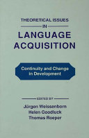 Theoretical Issues in Language Acquisition