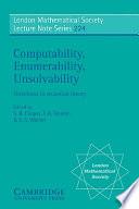 Computability, Enumerability, Unsolvability