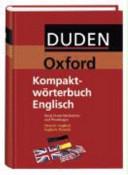 Duden Oxford  Kompaktw  rterbuch Englisch
