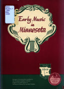 Early Music in Minnesota  Book
