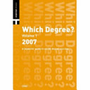 Which Degree  2007