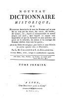 Nouveau dictionnaire historique: A-Az ebook