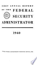 Annual Report Of The Federal Security Agency For The Fiscal Year