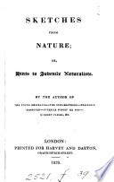 Sketches from nature; or, Hints to juvenile naturalists, by the author of The young emigrants