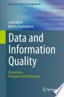 Data and Information Quality Book