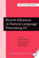 Recent Advances in Natural Language Processing III