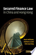 Secured Finance Law in China and Hong Kong Book