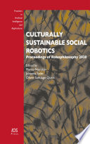 Culturally Sustainable Social Robotics Book