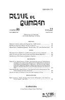 Revue de Qumran