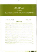 Journal Of The Mathematical Society Of Japan