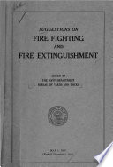 Suggestions on Fire Fighting and Fire Extinguishment Book