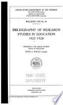 Bibliography Of Research Studies In Education
