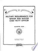 Military requirements for senior and master chief petty officer Book