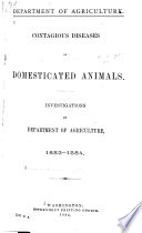 Contagious Diseases of Domesticated Animals Book