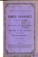 Pioneer experiences in the holy life  ed  by T B  Stephenson