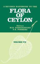 A Revised Handbook of the Flora of Ceylon   Volume 7