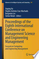 Proceedings Of The Eighth International Conference On Management Science And Engineering Management Book PDF
