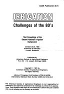 Irrigation Challenges of the 80 s Book