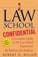 Law School Confidential Pdf/ePub eBook
