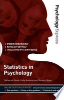 Psychology Express  Statistics in Psychology  Undergraduate Revision Guide