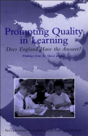 Promoting Quality in Learning