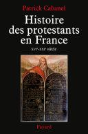 Pdf Histoire des protestants en France Telecharger