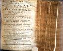 Encyclopædia Britannica; Or, A Dictionary of Arts, Sciences, &c. on a Plan Entirely New