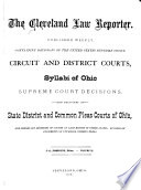 The Cleveland Law Reporter
