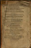 Nouveau Dictionnaire français