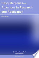 Sesquiterpenes Advances In Research And Application 2012 Edition