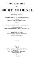 Dictionnaire Du Droit Criminel