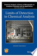 Limits of Detection in Chemical Analysis Book