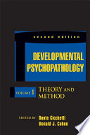 Developmental Psychopathology  Theory and Method Book