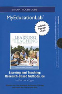 Learning and Teaching New Myeducationlab With Pearson Etext Standalone Access Card