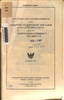 Activities and Accomplishments of the Committee on Education and Labor  House of Representatives During the Eighty ninth Congress  1965 1966